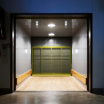 freight-elevator with sliding door